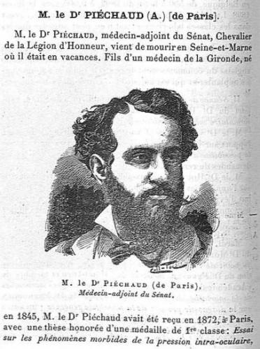 Portrait d'Adolphe Piéchaud dans la Gazette médicale de Paris (1899)